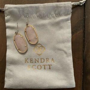 Kendra Scott Rose Quartz Elle Earrings